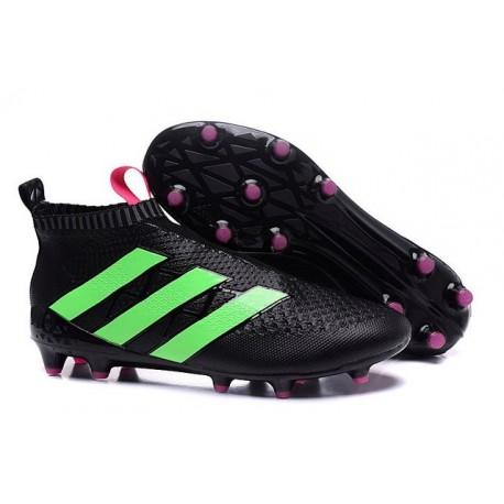 Nuovi Scarpette da Calcio Adidas Ace 16+ Purecontrol FG / AG Verde Nero