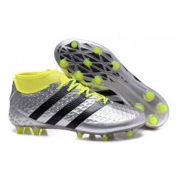 Scarpini Calcio Uomo - Adidas ACE 16.1 Primeknit FG/AG - Argenteo Nero Volt