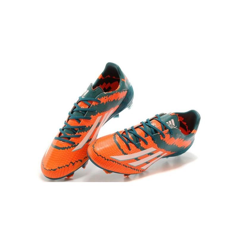 Fg Adidas Trx Pelle Verde Arancione Scarpe F50 Calcio Adizero Bianco OuPXZTwkil