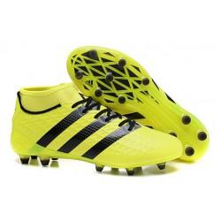 Scarpini Calcio Uomo - Adidas ACE 16.1 Primeknit FG/AG - Nero Giallo