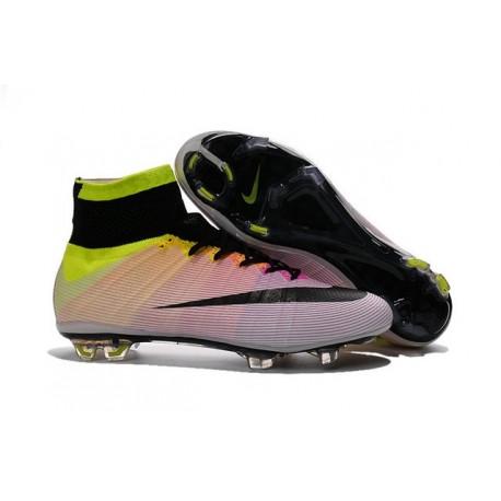 Scarpa da calcio per terreni duri Nike Mercurial Superfly - Bianco Nero Volt Arancione Totale