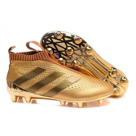 Nuovi Scarpette da Calcio Adidas Ace 16+ Purecontrol FG / AG Oro