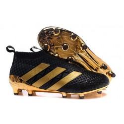 Nuovi Scarpette da Calcio Adidas Ace 16+ Purecontrol FG / AG Paul Pogba Nero Oro