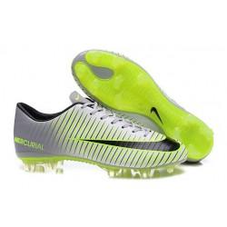 2016 Scarpe Calcio - Nike Mercurial Vapor XI FG Argenteo Nero Verde