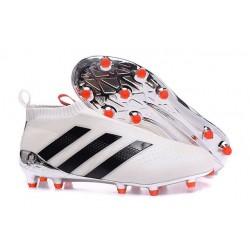Nuovi Scarpette da Calcio Adidas Ace 16+ Purecontrol FG / AG Bianco Nero Rosso