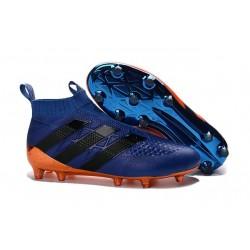 Nuovi Scarpette da Calcio Adidas Ace 16+ Purecontrol FG / AG Blu Arancione Nero