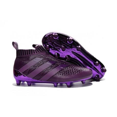 Nuovi Scarpette da Calcio Adidas Ace 16+ Purecontrol FG / AG Viola