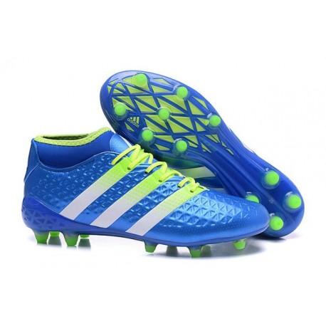 Scarpini Calcio Uomo - Adidas ACE 16.1 Primeknit FG/AG - Blu Verde Bianco