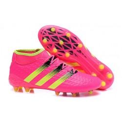 Scarpini Calcio Uomo - Adidas ACE 16.1 Primeknit FG/AG - Rosa Nero Giallo