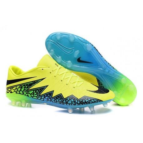 Scarpe calcio Nike HyperVenom Phinish FG - Uomo - Volt Nero Hyper Turchese