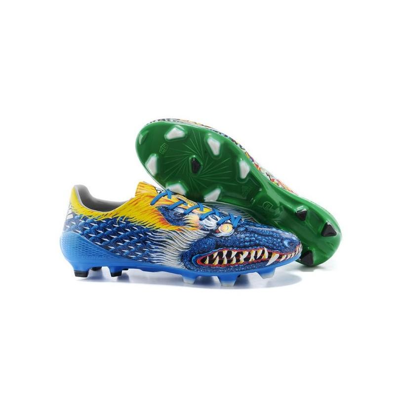 promo code 08f61 c00ff ADIDAS AdiZero F50 TRX FG Scarpe da calcio Messi Yamamoto Verde Blu Giallo