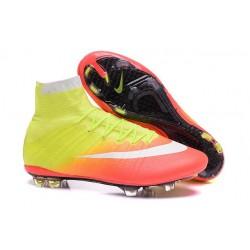 Nuove Scarpe calcio Nike Mercurial Superfly FG - Giallo Arancione Bianco Nero