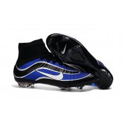 Scarpa da calcio per terreni duri Nike Mercurial Superfly Heritage - Blu Nero Argenteo Bianco