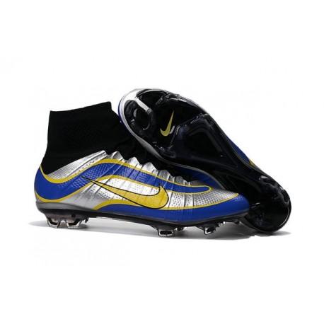2016 Scarpe calcio Nike Mercurial Superfly Heritage FG - Uomo - Nero Argenteo Blu Giallo