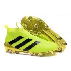 Nuovi Scarpette da Calcio Adidas Ace 16+ Purecontrol FG / AG Volt Oro Nero
