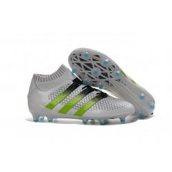 2016 Scarpini Calcio Adidas ACE 16.1 Primeknit FG/AG - Bianco Verde Nero