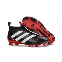 Nuovi Scarpette da Calcio Adidas Ace 16+ Purecontrol FG / AG Nero Rosso Bianco