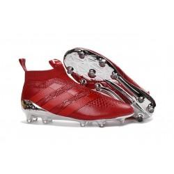 Nuovi Scarpette da Calcio Adidas Ace 16+ Purecontrol FG / AG Argenteo Rosso