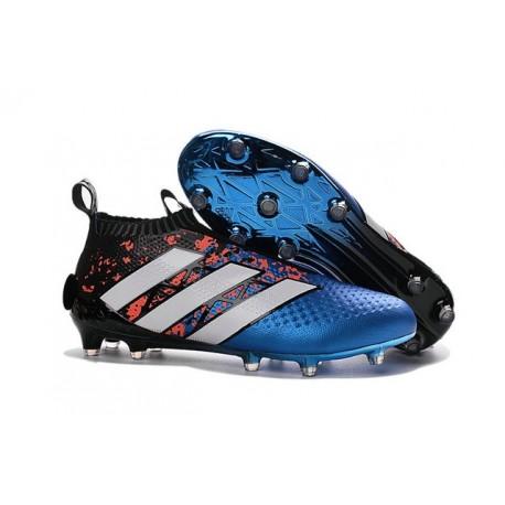 Nuovi Scarpette da Calcio Adidas Ace 16+ Purecontrol FG / AG Paris Pack - Blu Rosso Nero Bianco