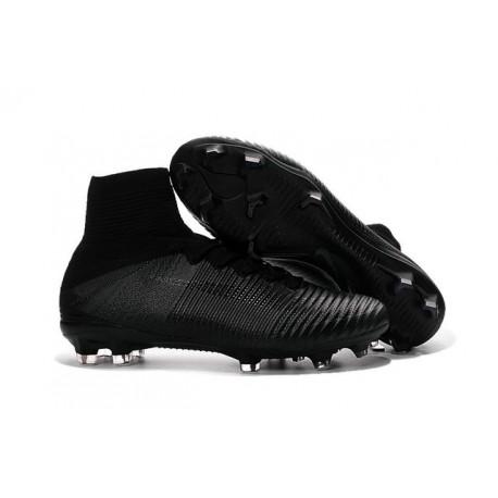 2016 Nuove Scarpa da calcio Nike Mercurial Superfly V FG tutto Nero