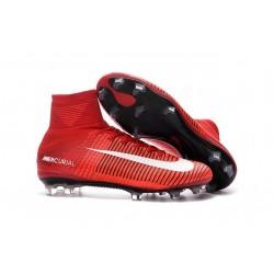 Scarpa da calcio Nike Mercurial Superfly V FG Uomo Rosso Bianco Nero