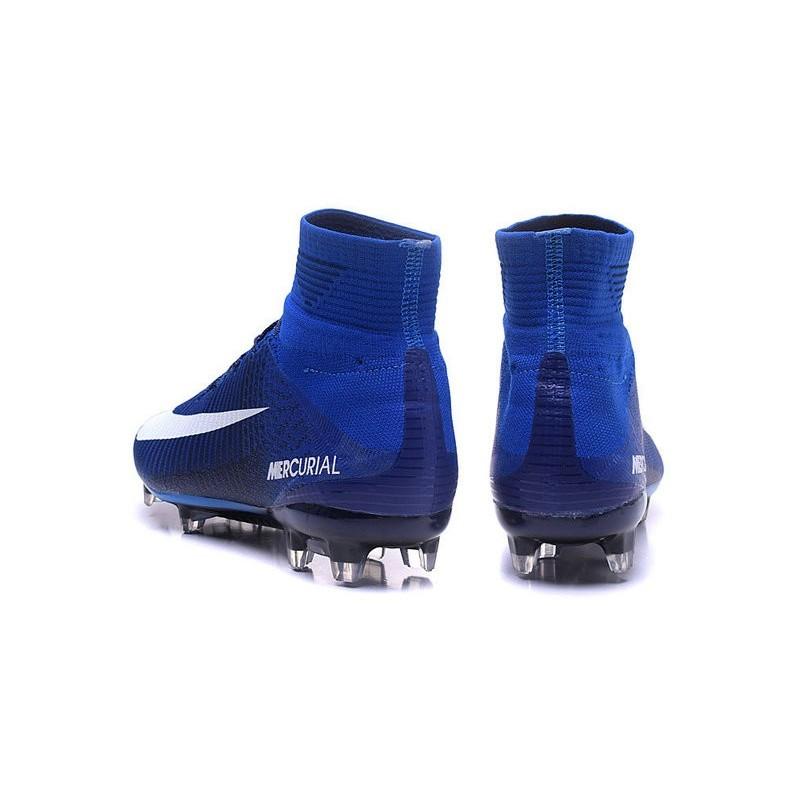 new product fc157 cef7e Mercurial Nuove V Scarpa Da Bianco 2016 Blu Nike Fg Calcio Superfly  OAXgxdqwC