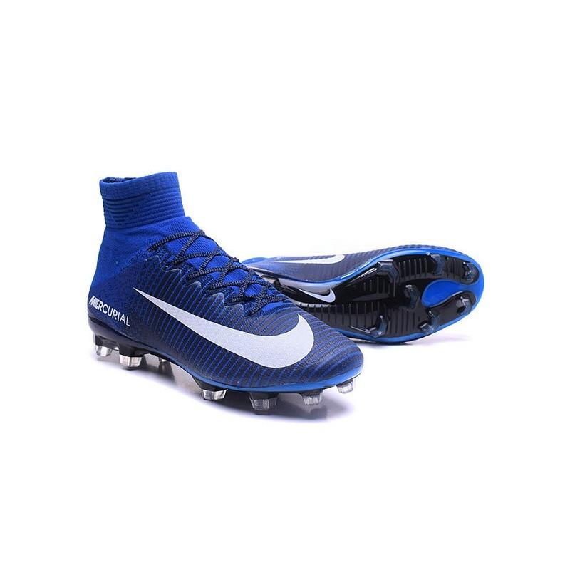 best website 5a2c8 bd874 2016 Nuove Scarpa da calcio Nike Mercurial Superfly V FG Bianco Blu