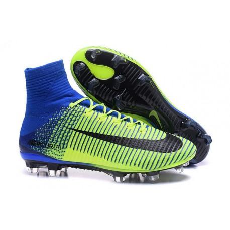 Scarpa da calcio Nike Mercurial Superfly V FG Uomo Verde Blu Nero