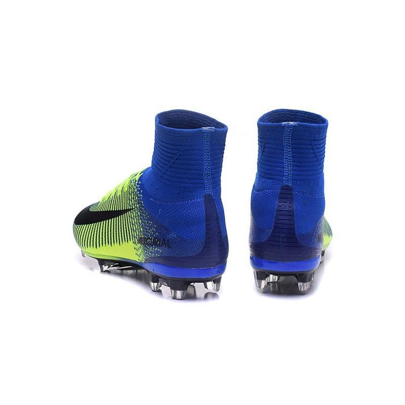 Nike Fg Verde Scarpa Calcio Nero Superfly V Uomo Mercurial Blu Da wN80vOymn