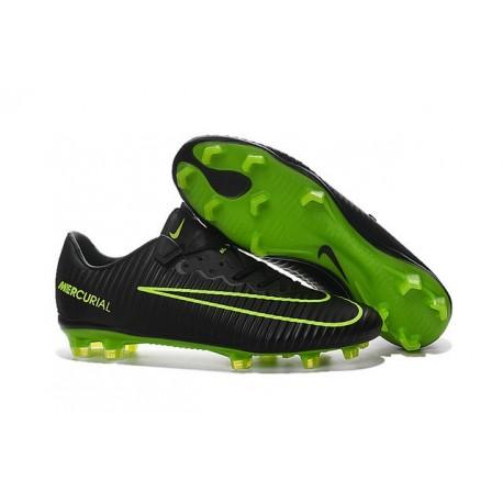2016 Scarpe Calcio - Nike Mercurial Vapor XI FG Nero Verde