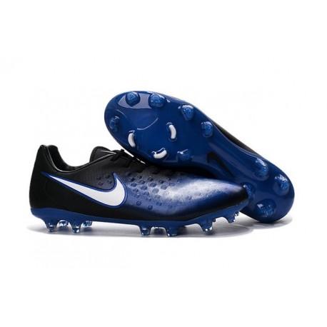 Nuove Nike Magista Opus II FG Scarpa da calcio per terreni duri - Blu Nero Bianco