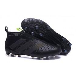 Nuovi Scarpette da Calcio Adidas Ace 16+ Purecontrol FG / AG Nero Giallo Solare