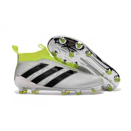 Nuovi Scarpette da Calcio Adidas Ace 16+ Purecontrol FG / AG Argenteo Giallo Nero