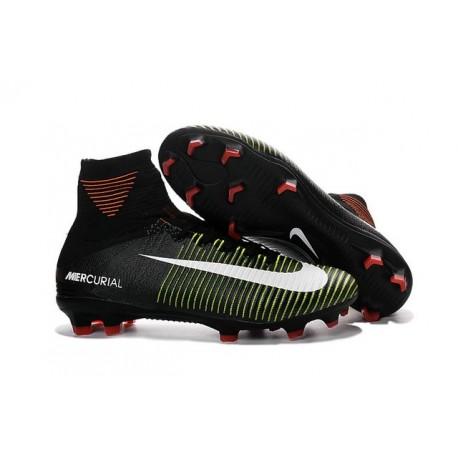 2016 Nuove Scarpa da calcio Nike Mercurial Superfly V FG Nero Viola Volt