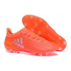 Scarpette da Calcio Adidas X 16.1 AG/FG Uomo Rosso Solare Argento Metallico Rosso Hi-Res