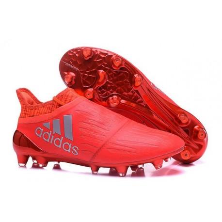 Scarpini Calcio Adidas X 16+ Purechaos FG - Uomo Rosso Solare Argento Metallico Rosso Hi-Res