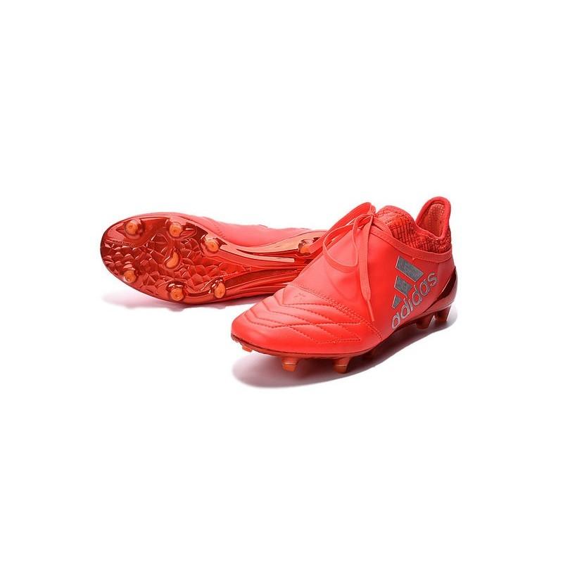 best website 59028 3ef70 Adidas X 16+ Purechaos FG - Nuovi Scarpette da Calcio Pelle Rosso Solare  Argento Metallico Rosso Hi-Res