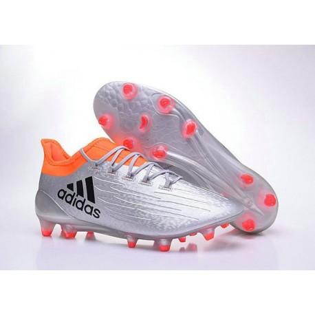 Scarpette da Calcio Adidas X 16.1 AG/FG Uomo Argento Metallico Nero Rosso Solare