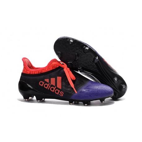 Scarpini Calcio Adidas X 16+ Purechaos FG - Uomo Nero Viola Arancione