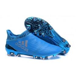 Nuove Adidas Scarpe Calcio X 16+ Purechaos FG - Argenteo Blu