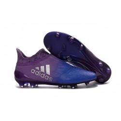 Scarpette da Calcio Adidas X 16+ Purechaos FG - Viola Blu Argenteo