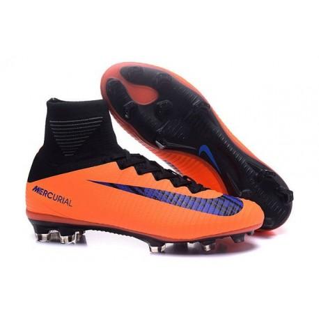 2016 Nuove Scarpa da calcio Nike Mercurial Superfly V FG Arancione Nero Viola