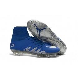 2016 Scarpe Nike HyperVenom Phantom II FG - Uomo - Neymar x Jordan Blu Argenteo