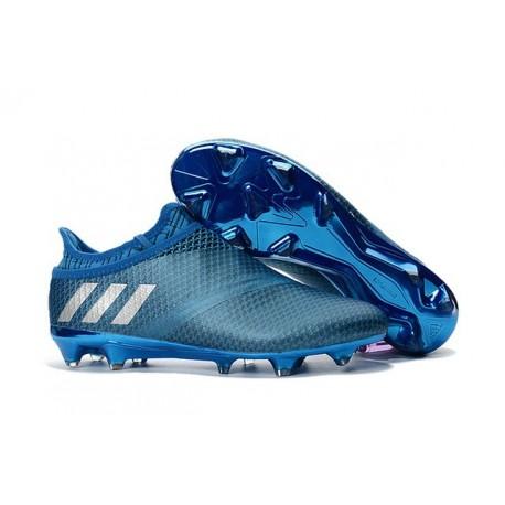 Scarpe Da Calcio Adidas Messi 16+ Pureagility Fg/Ag Uomo Blu Argento Nero
