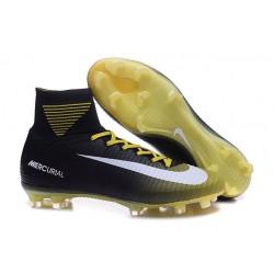 Scarpa da calcio Nike Mercurial Superfly V FG Uomo Giallo Bianco Nero