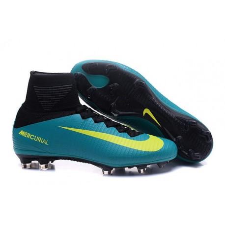 Scarpa da calcio Nike Mercurial Superfly V FG Uomo Verde Giallo Nero