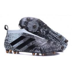 Nuovi Scarpette da Calcio Adidas Ace 16+ Purecontrol FG / AG Verde Vapour Nero