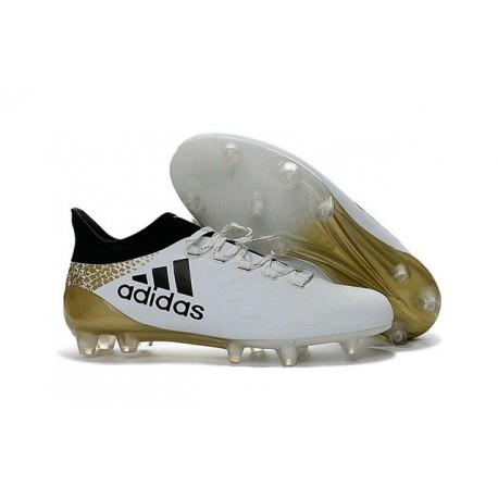 2016 Adidas X 16.1 AG/FG Scarpini Calcio Bianco Nero Oro Metallico