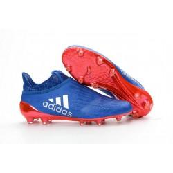 Scarpini Calcio Adidas X 16+ Purechaos FG - Uomo Blu Arancione Argento