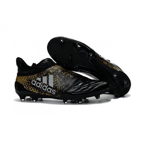 scarpette da calcio adidas x 16 purechaos fg nero oro
